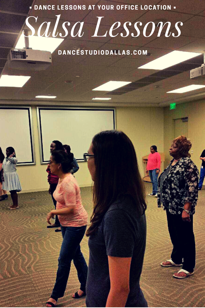 Salsa Dance Lesson at Fidelity Investments in Westlake
